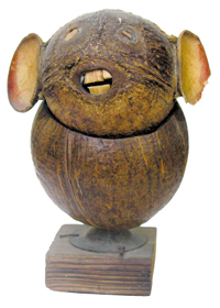 Sculpture made by coconut shell