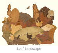 Photo of Landscape made by dried leaves